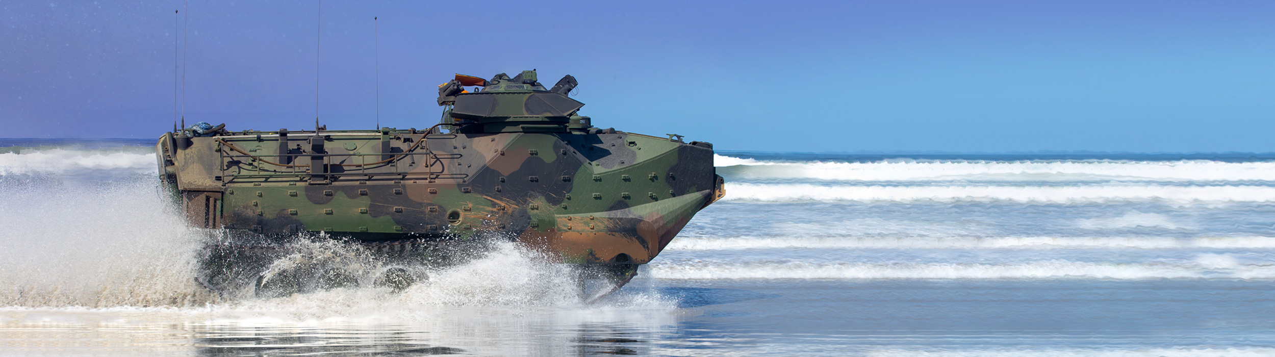 Ground Image - Assault vehicle on beach