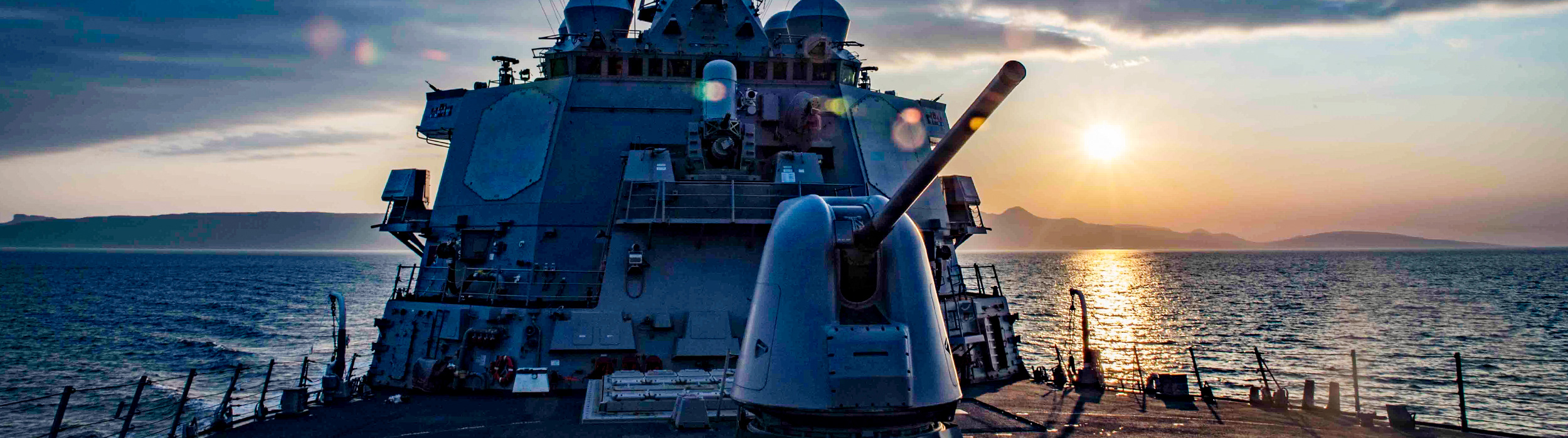 Naval Image - Gunship sunset